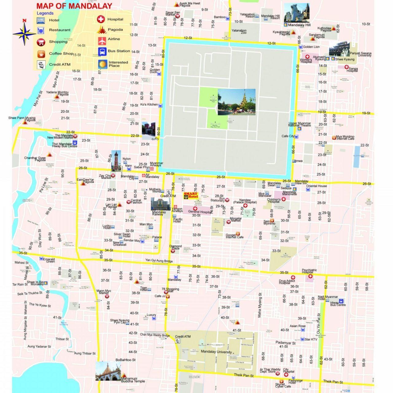 Mandalay Map Secret Streets